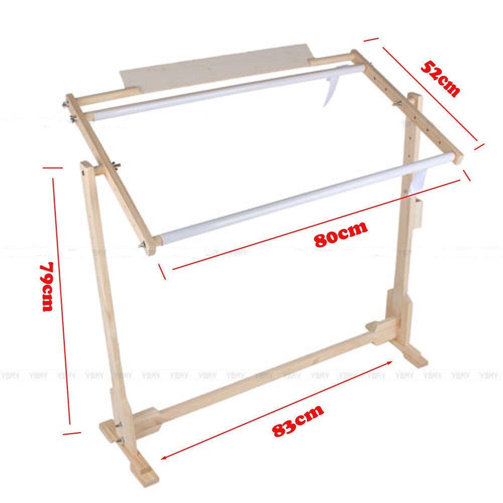 Cross Stitch Frame Stand, Adjustable Cross Stitch Floor Stand Wooden ...