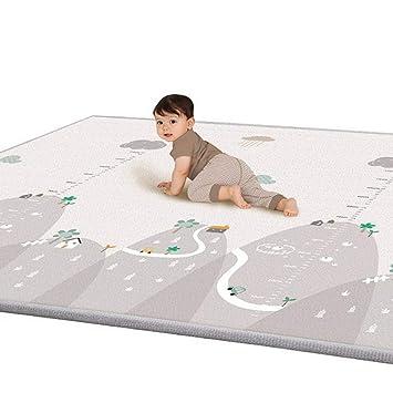 lulalula Tapis Jeu pour Enfants Tapis de Jeu Double épaisseur côté  imperméable Soie LDPE Tapis pour bébé Idéal pour Le gattonamento, 200 x 180  x 1 cm ...