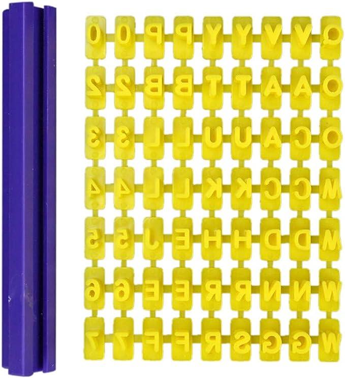 Amazon.com: Alphabet Letter Number Cookie Mould Press Stamp Embosser Cutter Fondant Mould zsjhtc: Kitchen & Dining