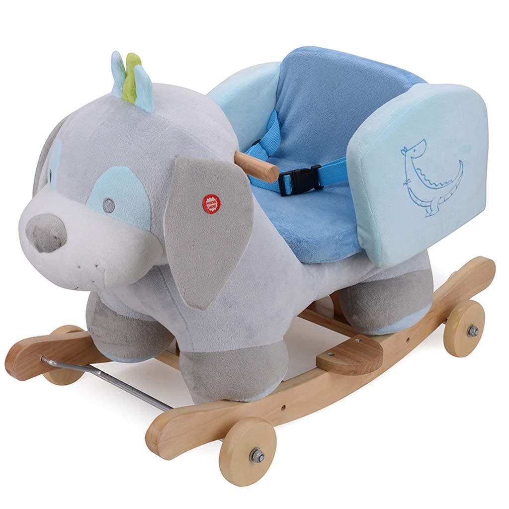Cavalli a dondolo FJH Bambini in Legno Musica Sedia a Dondolo Bambino Regalo Giocattolo Auto 65  35  44 cm ( Colore   B )
