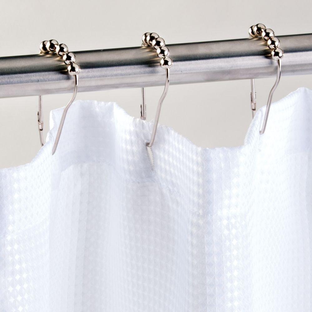 InterDesign Steel Roller Shower Curtain Rings Hooks