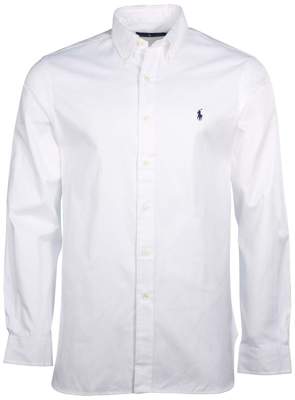 Polo Ralph Lauren Men's Solid Poplin Sport Shirt at Amazon Men's ...