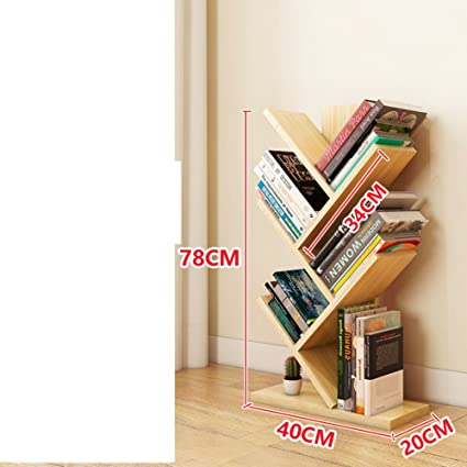 JXBOOS Tree Shape BookshelfMinimalist Modern Living Room Floor Bookshelf Rack Personality Bedroom Children