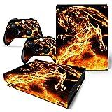 CSBC Skins Xbox One X Design Foils Faceplate Set - Dragon Design