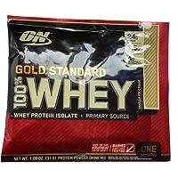 10包装|Optimum Nutrition ON 欧普特蒙 黄金标准100% 乳清蛋白粉 香草味 31g/包 美国品牌 包税