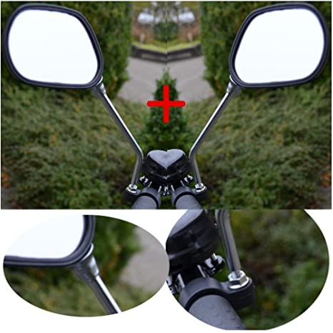 2X Fahrradspiegel Flexibel Fahrrad Sicherheit Lenkerspiegel Spiegel Rückspiegel