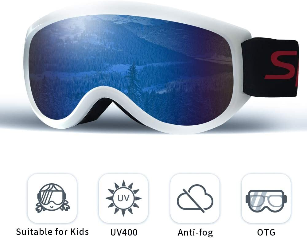 Mayeit Ski Goggles, 2020 Upgraded Anti Fog & OTG Snowboard Snowmobile Goggles for Men Women and Youth - Dural Layers 100% UV400 Protection