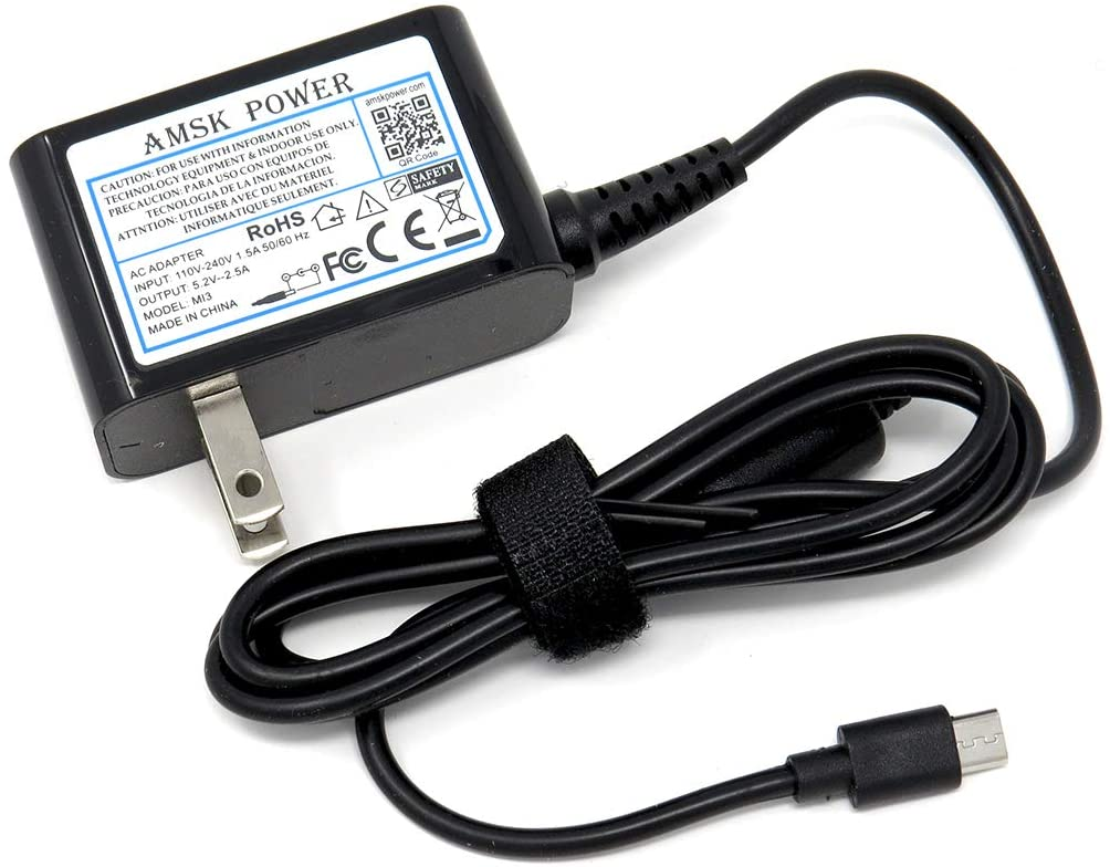AMSK Power ac Adapter for Acer-Iconia A A110, A1-810 830 840 850 860, A3-A10 A20; Iconia B B1-710 720 770 810 820; One 7, 8, 10 B3-A10 B3-A20 B3-A30; W4; Tab 8 W; Aspire Switch 10 E SW3-013 Tab PC