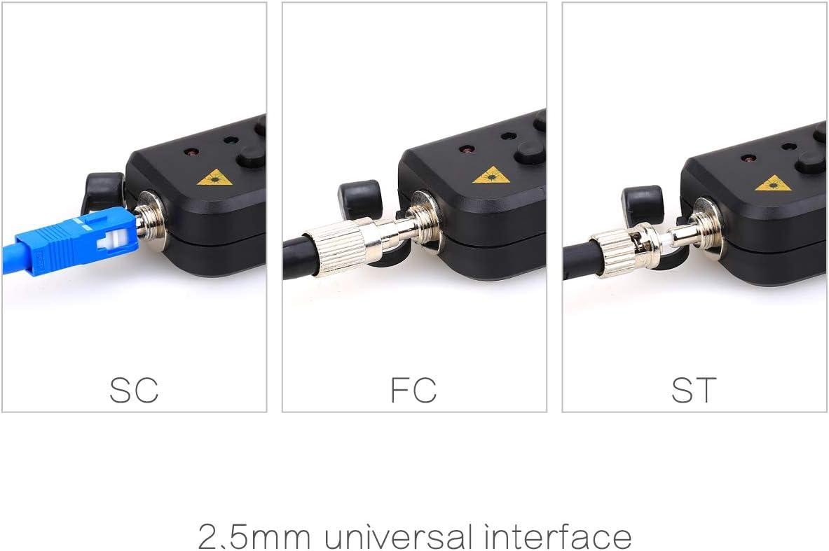 Ftth Mini Vfl-rgt-30mw Localisateur visuel avec connecteur universel 2,5/mm 25/km Fibre optique testeur de c/âble /équipement au m/ètre pour CATV t/él/écommunications ing/énierie Maintenance.