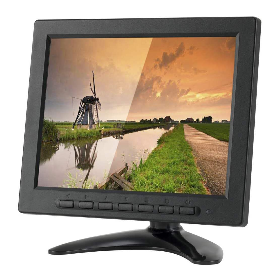 LSLYA 8 inch TFT LED Monitor 1024x768 Resolution Display Portable 4:3 IPS HD Color Video Screen Support USB AV BNC HDMI VGA BNC Input for PC CCTV Raspberry Pi (8'' LED 1024x768 160°)
