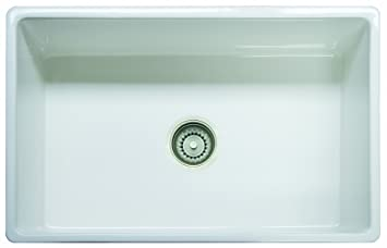Franke FHK710 30WH Farm House Fireclay Single Bowl Apron Front Kitchen Sink,  30u0026quot;