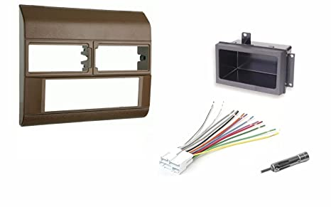 Amazon.com: Beige Radio Stereo Dash Kit w/Wire Harness+Pocket+ ... on chevy truck color codes, chevy truck starter wiring, chevy truck interior trim parts, chevy truck heater control, chevy truck alternator wiring, chevy truck conversion kit, chevy truck gps antenna, chevy truck throttle cables, chevy truck rear differential, chevy truck clutch rod, chevy truck front fender, chevy truck temp sensor, chevy truck brake switch, chevy truck wiring diagram, chevy truck air cleaner assembly, chevy truck leather seat covers, chevy truck shift linkage bushing, chevy truck speaker grill,