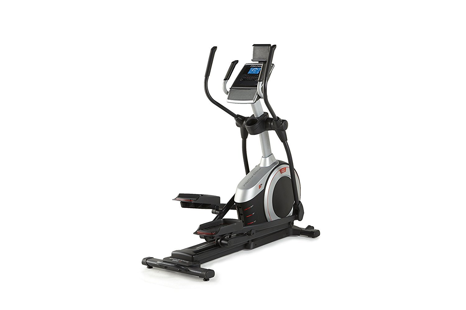 New ProForm Endurance 520 E Elliptical 19'' Adjustable Stride, IFit 5'' display with Bluetooth (BLE),Front Mounted Transport Wheels,18 Preset Workout Apps,EKG bundled with Safecastle Sport Waterbottle