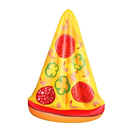 Sunbobo El flotador inflable de la piscina de la pizza del PVC asienta para los niños