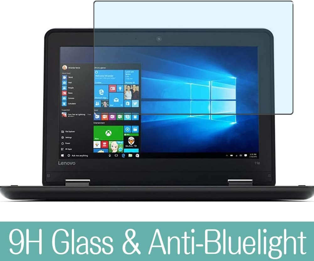 "Synvy Anti Blue Light Tempered Glass Screen Protector for Lenovo Thinkpad Yoga 11E 3rd GEN 11.6"" Visible Area 9H Protective Screen Film Protectors"