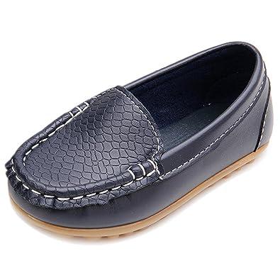 8b4e8af93c654 Eagsouni® Chaussure Bateau Mocassin Enfant Loisirs Confort Chaussures Fille  Garçon Plates Loafers en Cuir Oxford