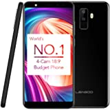 Quad Camera Smartphones, LEAGOO M9 3G Android 7.0 Mobile Phones 5.5 inch 18:9 IPS Display Cell Phone MT6580A Quad Core 1.3GHz with 2GB RAM+16GB ROM Dual SIM Fingerprint GPS 2850mAh Battery (Black)