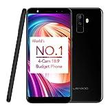 Leagoo M9 - Smartphone 3G Libre (Pantalla 5,5 pulgadas HD, Android 7.0, 2GB RAM + 16GB ROM, MT6580A Quad Core 1.3GHz, Cuatro Cámaras: Frontera 5+2MP, Trasera 8+2MP, Batería 2850mAh), Negro
