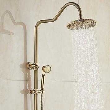 ZXY Europäische Vintage-Stil Bronze Blume Dusche Set, Badezimmer ...