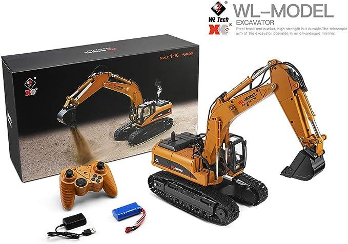 FairOnly W-l-Toys 16800 1/16 2.4G Excavador RC Juguetes para Coche ...