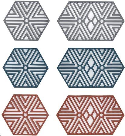 Compra Salvamanteles de silicona Shapl | 6 piezas, soporte para sartenes, tazas, resistente al calor, almohadillas para contenedores calientes, estilo simple, suave y antideslizante. en Amazon.es