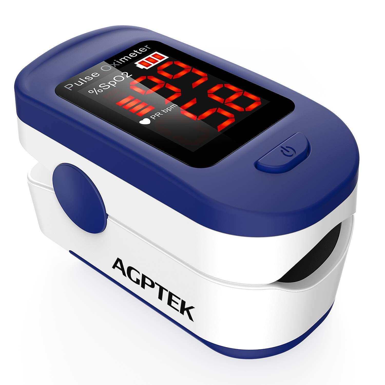 Oxímetro de Pulso, con Pantalla LED, Aprobado por FDA&CE, Color Azul