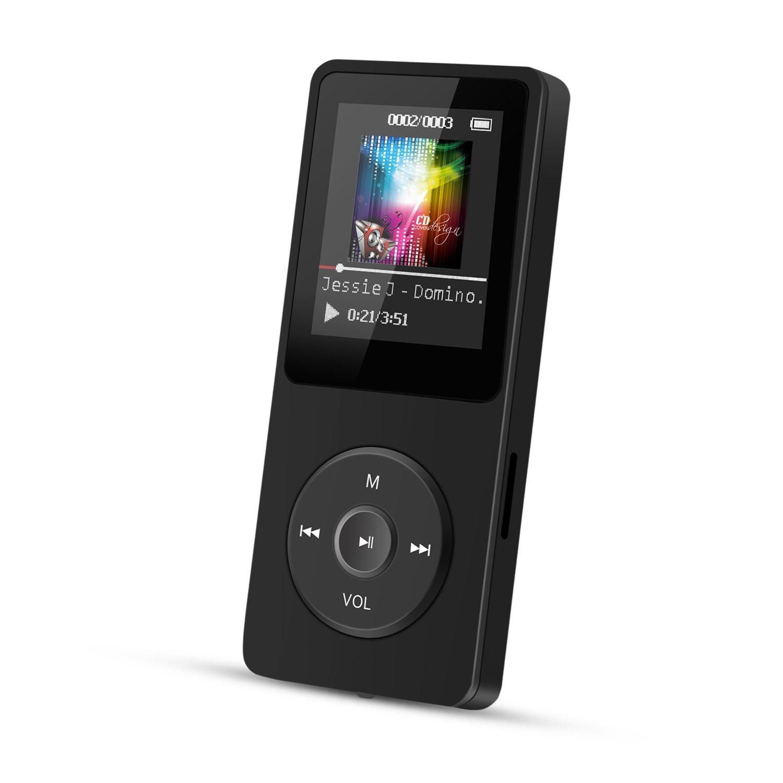 AGPTEK 8GB MP3 Player 70 Stunden Wiedergabe Schwarz
