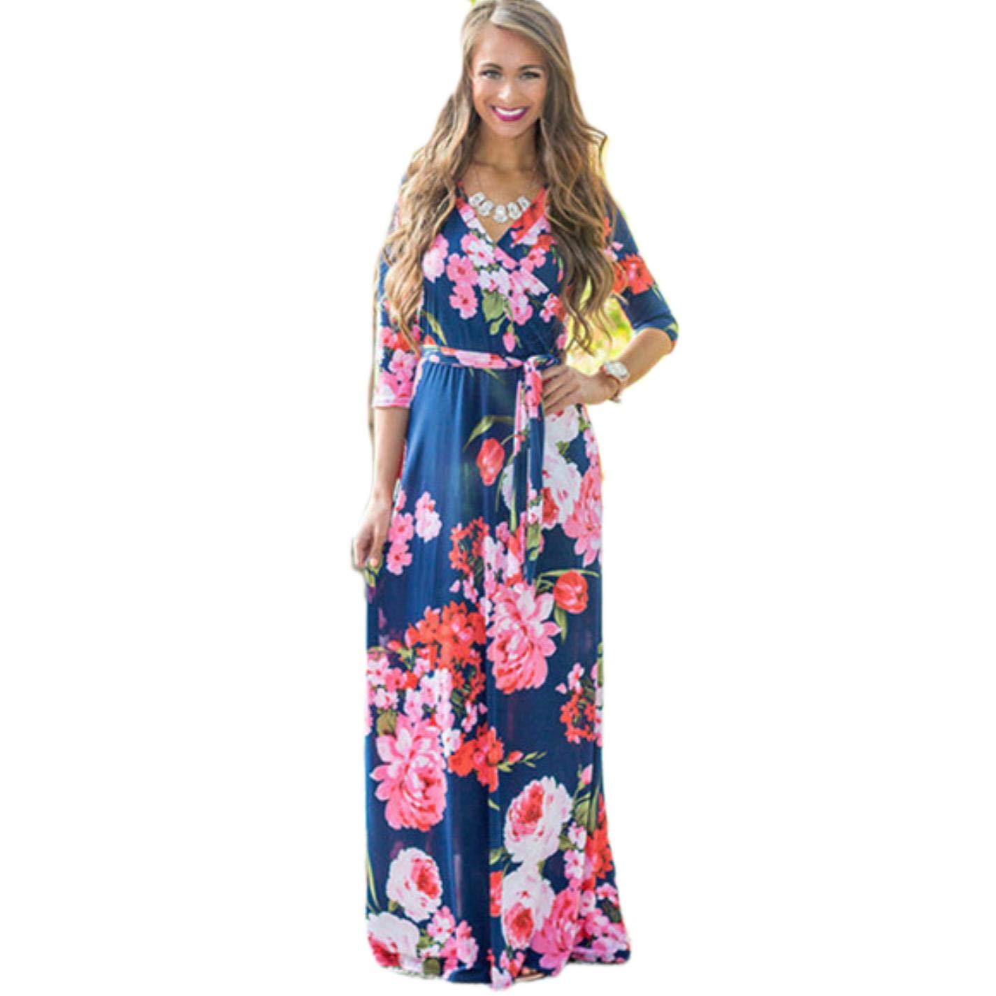 65bff36ad Summer Floral Print Maxi Dresses | Saddha