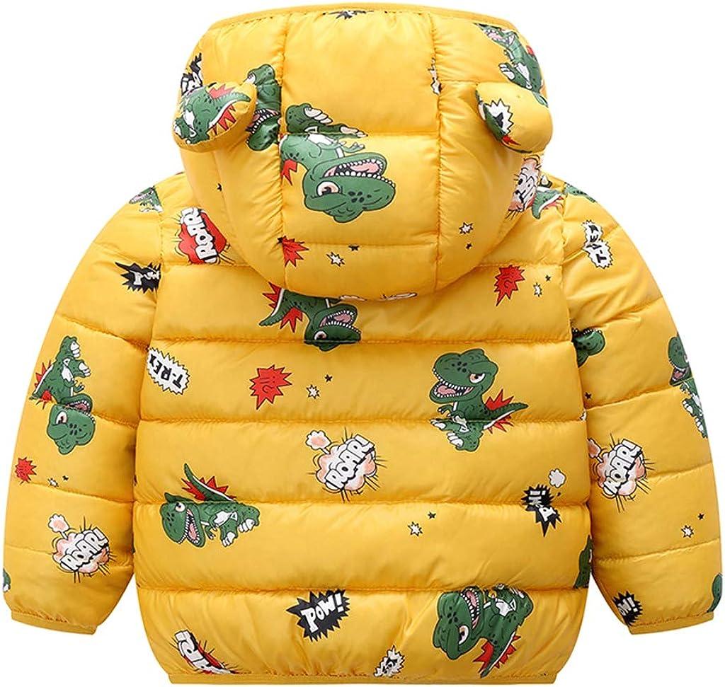 Baby Hooded Down Jacket Kids Winter Puffer Coat Boys Girls Snowsuit Padded Jacket Outerwear