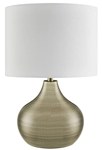 Lighting collection 700199 e14 40 w table lamp with gold cable and lighting collection 700199 e14 40 w table lamp with gold cable and large ivory drum shade aloadofball Images