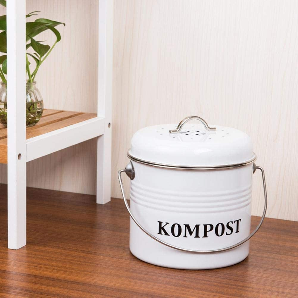 Kompostbeh/älter 5L Kompostk/übel Retro K/üche Eimer mit Deckel M/ülleimer Guardian Container Eimer Indoor M/ülleimer Kohlefilter Eimer