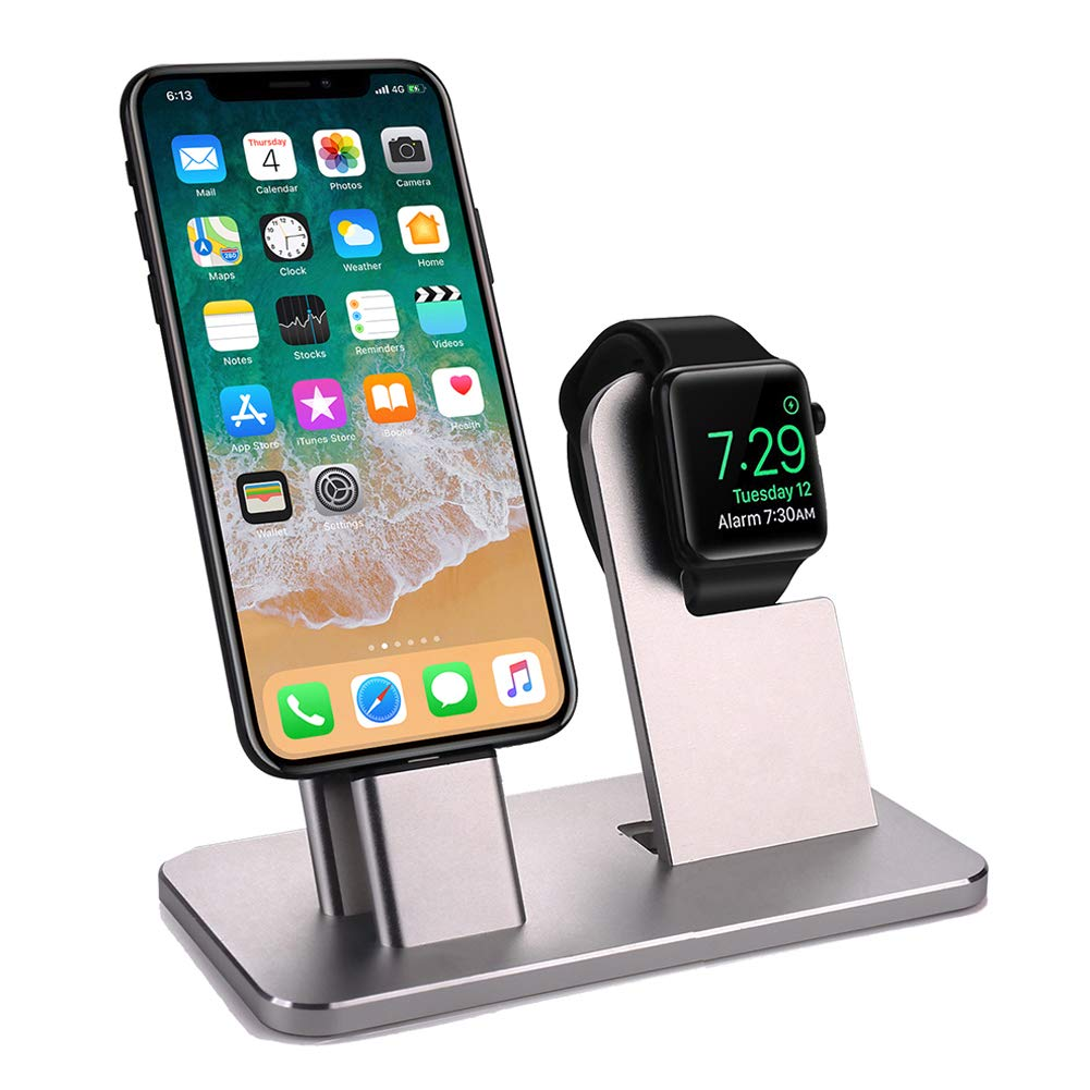 RONSHIN Automotive Aluminum Alloy Mobile Phone Charging Stand Station Smart Watch Charging Dock Charger Display Stand by RONSHIN
