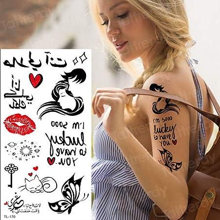 2 Unids-Palabras del tatuaje Etiquetas engomadas minimalistas del ...