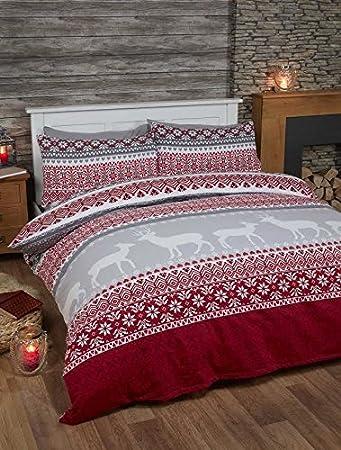 Bedding Heaven Super Soft Flannelette Duvet Cover Set - Fairisle ...