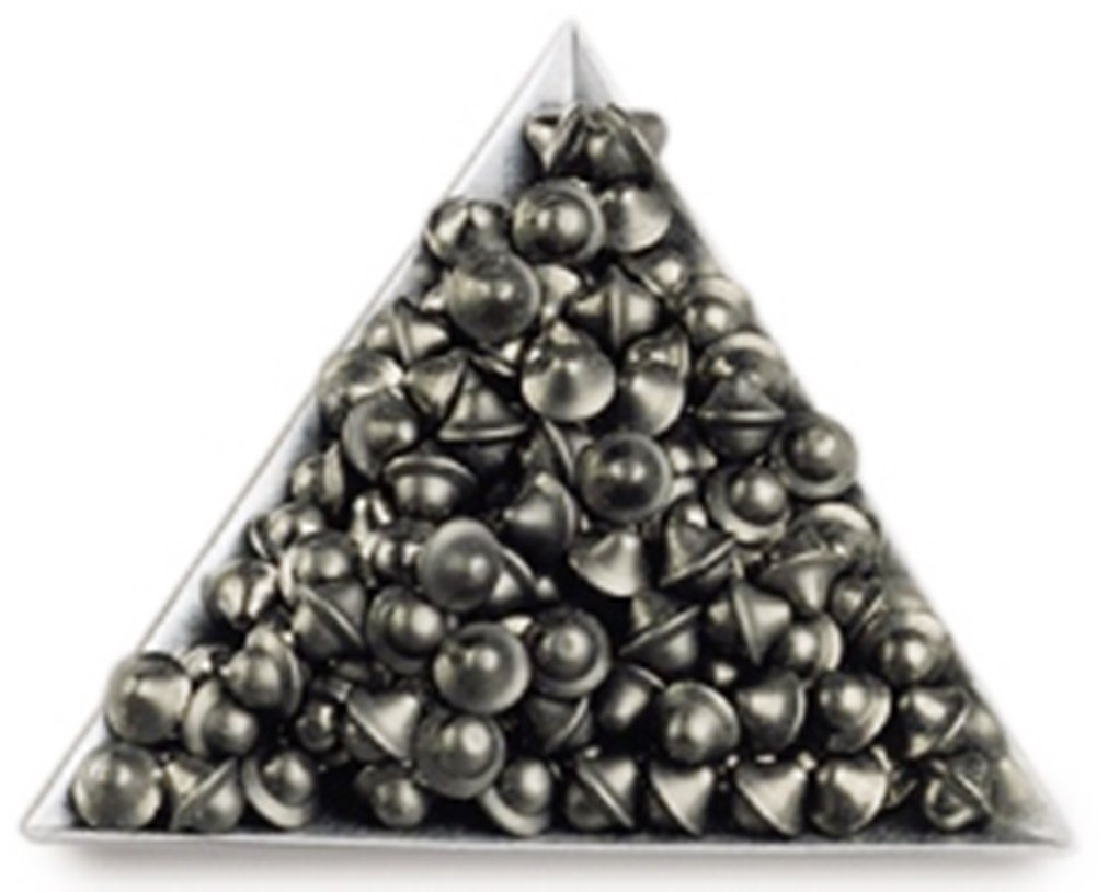 Tumbling Media Carbon Steel Ball Cones 3/16'' Package of 10 Lbs.