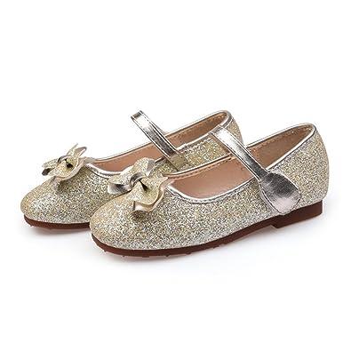 d1f6c1453dbc5 Amazon.com | F-OXMY Summer Bow Princess Dress Flat Glitter Mary Jane ...