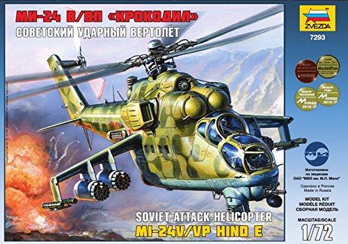 ZVEZDA 7293 MIL MI-24 V/VP HIND E MODEL KIT 1/72 USSR RUSSIAN ATTACK HELICOPTER