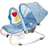LaNova バウンサー ベビー 新生児から使える ママ らく バウンサー 持ち運びしやすい ライトブルー