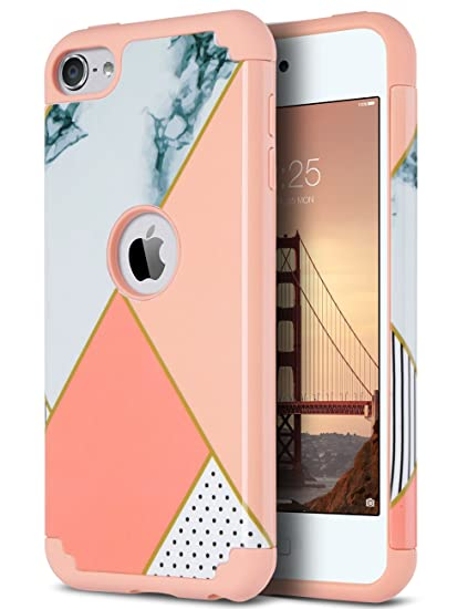cheap for discount 1e03d f8629 ULAK Marble Case for iPod Touch 6th Generation, Heavy Duty High Impact Knox  Armor Case Cover Protective Case for Apple iPod Touch 5 6th Generation, ...