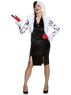 Amazon.com: Traje para adultos con diseño de Cruella de Vil ...
