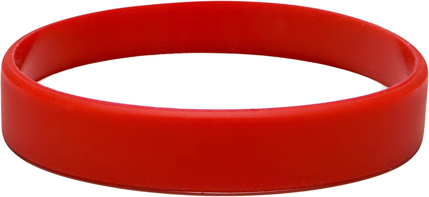 J/&R Silicone Wristbands Pack Of 10 Infant Sizes Choice Of Colours