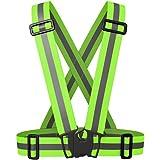 Cinturón de cintura de chaleco reflectante de seguridad para correr al aire libre, ciclismo, caminar, excursionismo y motocicleta