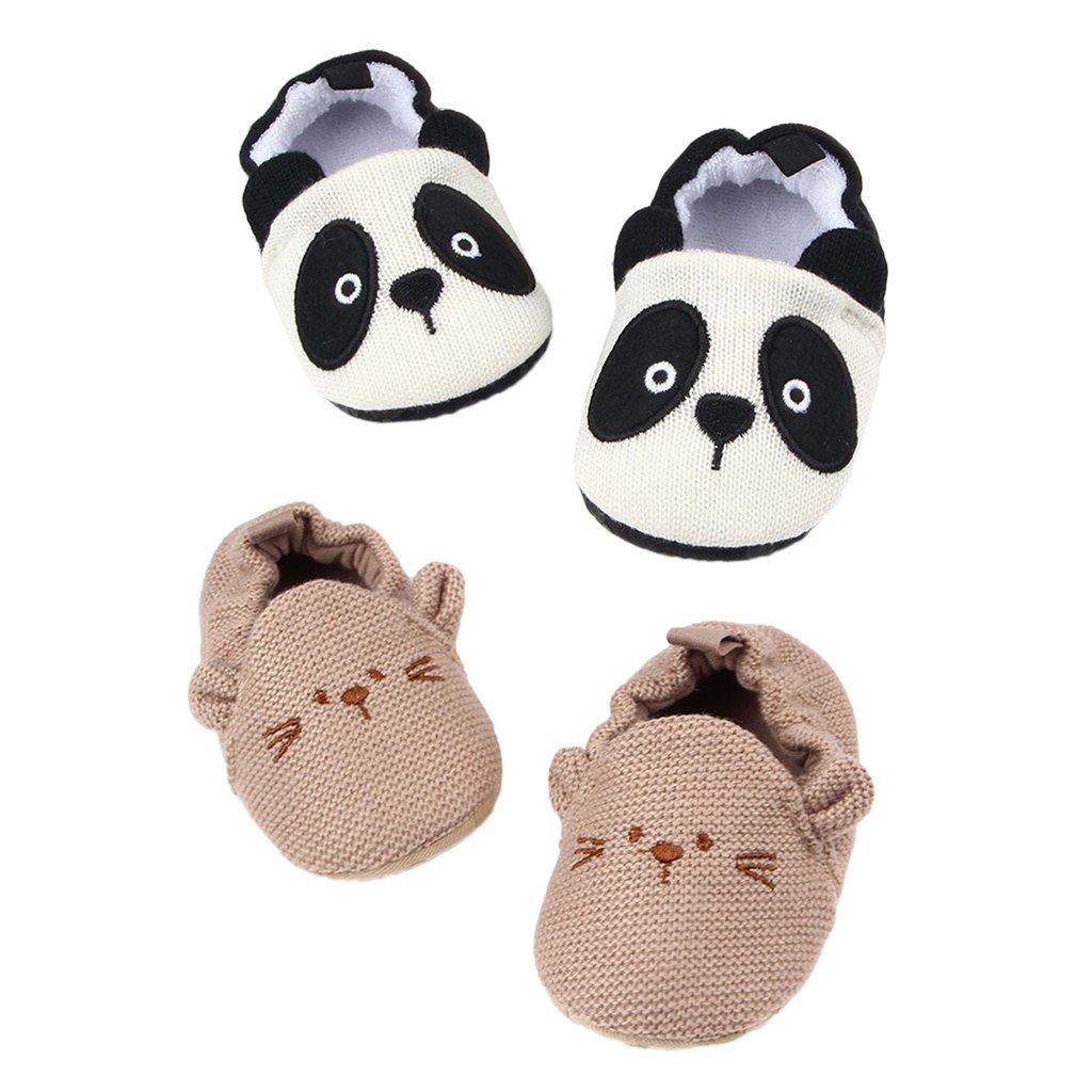Sharplace Unisex Babé Zapatos Algodón de Punto Deporte para Bebés Accesorios Duraduro Ajustable - Panda, 11cm
