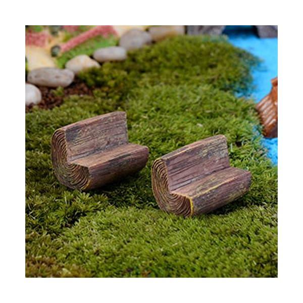 Da.WA mini Fairy Garden Park sedia divano Bench Model Home Decoration Outdoor Decor 4 spesavip