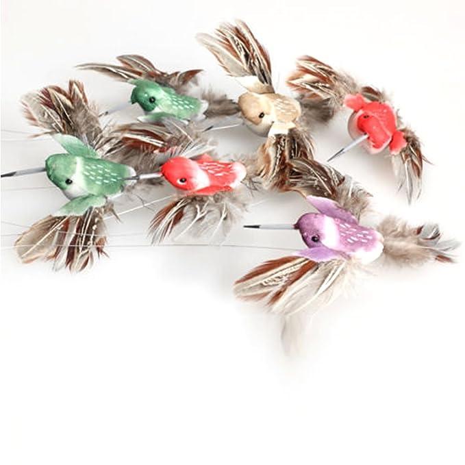 Flotador de pájaros voladores con energía solar para decoración de jardín, color al azar randomly Random Color Sent: Amazon.es: Hogar