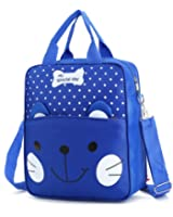 Junboon Kids Waterproof Backpack Kitty Bookbag Shoulder Bag School Backpack for Elementary School Boys and Girls