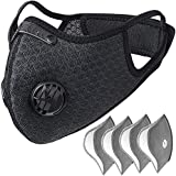 HASAGEI Dust Mask with Filters Sports Face Mask for Men and Women Reusable Activated Carbon Dustproof Respirator Mask Half Face Mask for Workout Running Motorcycle Mountain Bike Cycling Mask