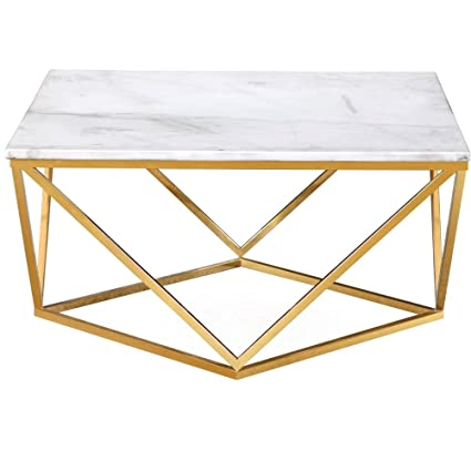 Amazon Com Marble Topped Table Coffee Table White Marble Top