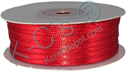 "1//8/"" Double Face Satin Ribbon 100 yards Red"