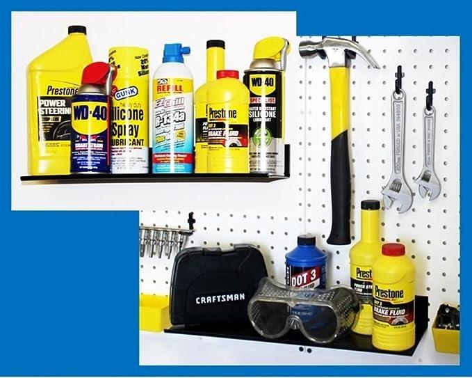 WallPeg Pro Kit - Pegboard Shelves, Bins, Peg Hooks, Tool Storage